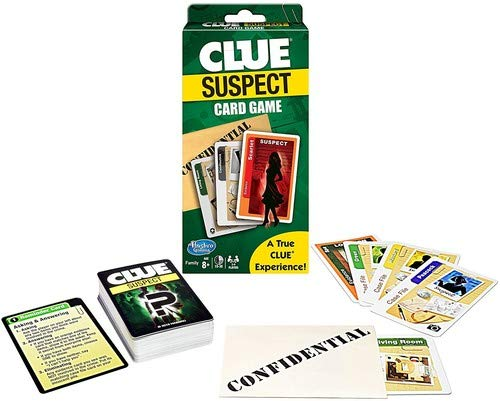 Clue Suspect Card Game - All The Fun of Clue - in - Knife Set Solitaire