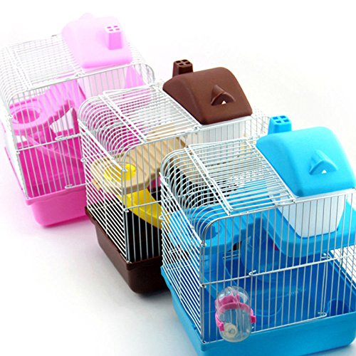 Portable Pet Hamster House Cage 2 Layers Hamster Cage With Waterer And Bowl