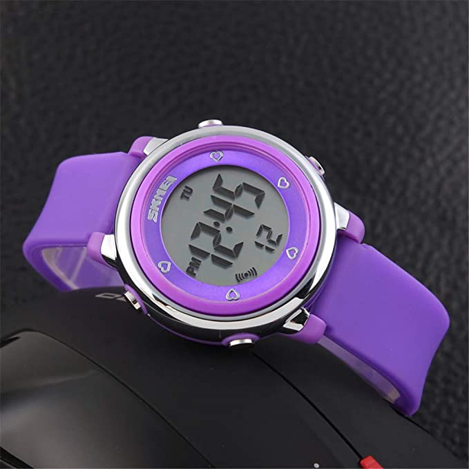 Amazon.com: Girls and Boys Watch by FEIWEN 50M Waterproof 7 Multicolor LED Backlight Outdoor Digital Sports Multifunction Large Numbers Cartoon Wtches ...