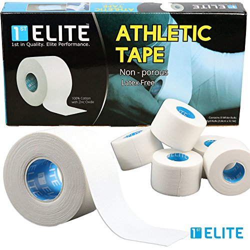 Cotton Athletic Tape by 1st Elite - Professional Grade Joint Support for Boxing, Weightlifting, MMA, Gymnastics & All Indoor / Outdoor Sports (The Sport Of Boxing)