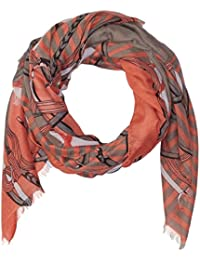 Women's Chain Print Scarf with Fringe