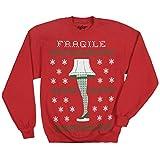 A Christmas Story Leg Lamp Ugly Christmas Faux Sweater Sweatshirt-X-Large