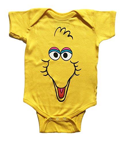 Sesame Street Baby Girls BIG BIRD One Piece Snap Bodysuit (6-12 Months)]()