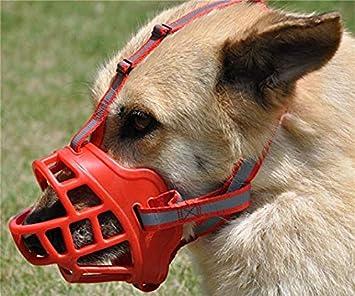 Suave Gel de s/ílice JWPC Bozal Ajustable antimordiscos para Perro para Mascotas y Cachorros Que muerden//ladran//mastican,Negro 1 Transpirable para Seguridad