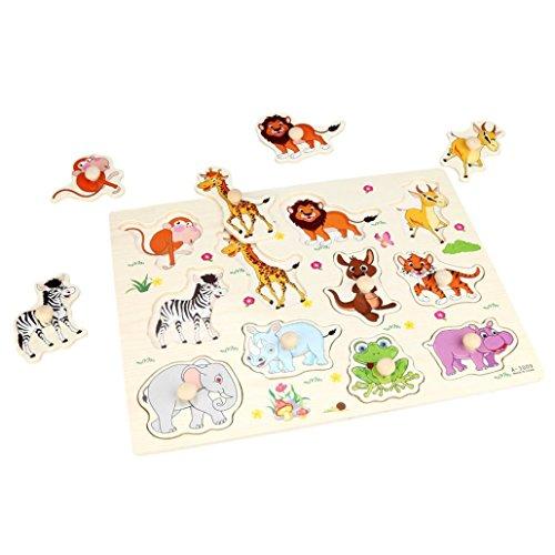 Zoo Animals Wooden Puzzle - 6