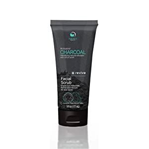 Nature's Beauty Activated Charcoal Facial Scrub, Made in USA, Detoxifying Natural Exfoliator with Citrus Scent, Revives and Refines Skin, Charcoal from Coconut Shell, For Men and Women - 6 fl oz