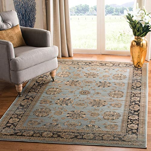 Safavieh Vintage Collection VTG575H Transitional Oriental Light Blue and Brown Distressed Area Rug 9 x 12