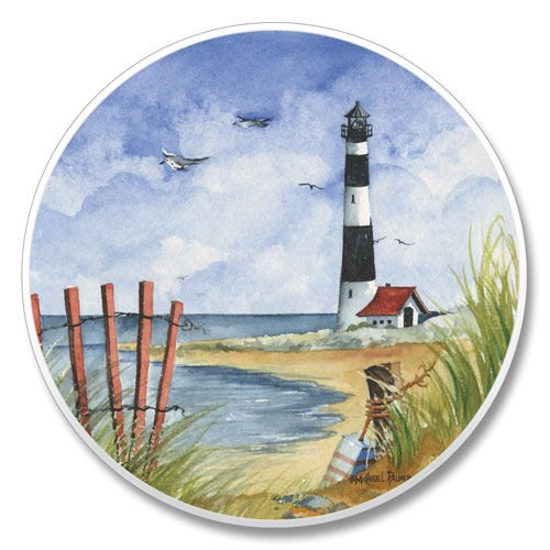 "Lighthouse Auto Coaster 2.6"" round x .3"" d ()"