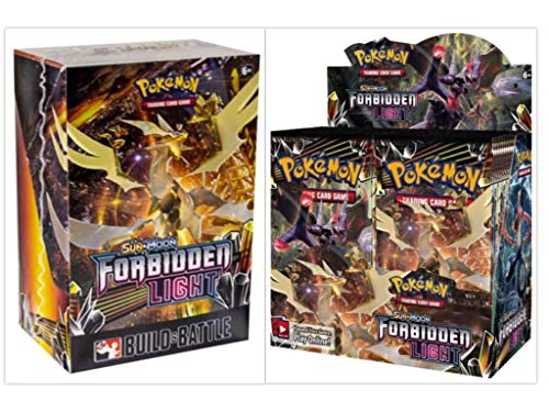- Pokémon TCG Sun & Moon Forbidden Light Booster Box + Prerelease Kit Pokémon Trading Card Game Bundle, 1 of Each