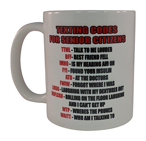 Best Funny Coffee Mug Senior Citizen Text Novelty Cup Gift Retirement Birthday