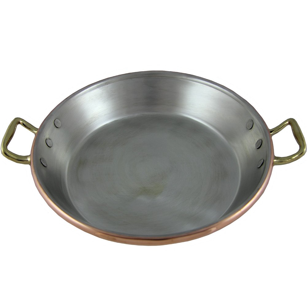 """Traditional Copper Paella Pan Paellera Made In Portugal (N1. 8"""" - 20 CM)"""
