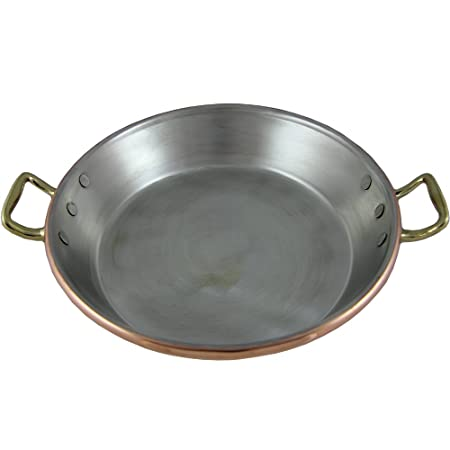 Tradicional Paella de cobre sartén paellera, fabricado en Portugal ...