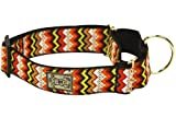RC Pet Products 1-1/2-Inch All Webbing Martingale Dog Collar, Small, Tribeca, My Pet Supplies