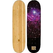 "Bamboo Skateboards Nebula Graphic Skateboard Deck, Natural, 8.0""x31.75"""