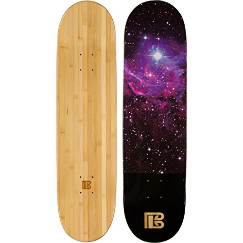 Bamboo Skateboards Graphic Skateboard Deck- More Pop, Lighter, Stronger, Lasts Longer Than Most Decks! (8.0, Nebula)