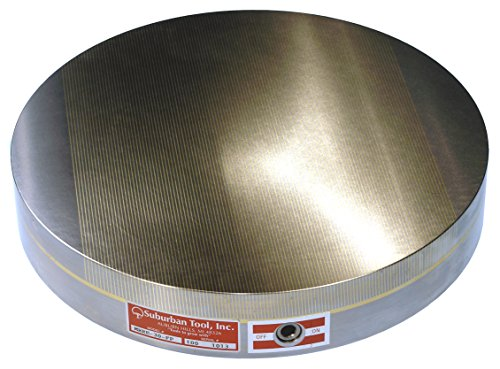 130mm (5.12 inch) Round Rare Earth Magnetic Chuck - Fine Pole - Quality Import by Suburban Tool