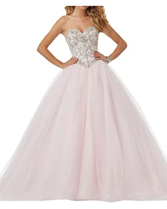 Gorgeous Bride Long Ball Gown Sweetheart Beaded Prom Quinceanera Evening Dress: Amazon.co.uk: Clothing