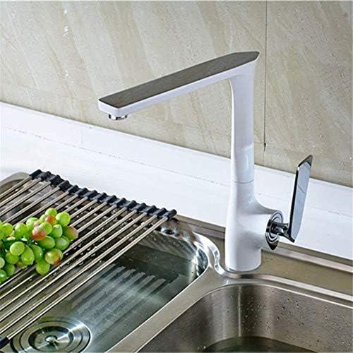 水タップ便利な浴室温水と冷水蛇口ハイグレードシングルホールホワイトペイントハイグレードペイント表面滑らかで錆びにくいバルブシート直径3540mm実用的なキッチンバスルーム用品キッチンバスルーム用品