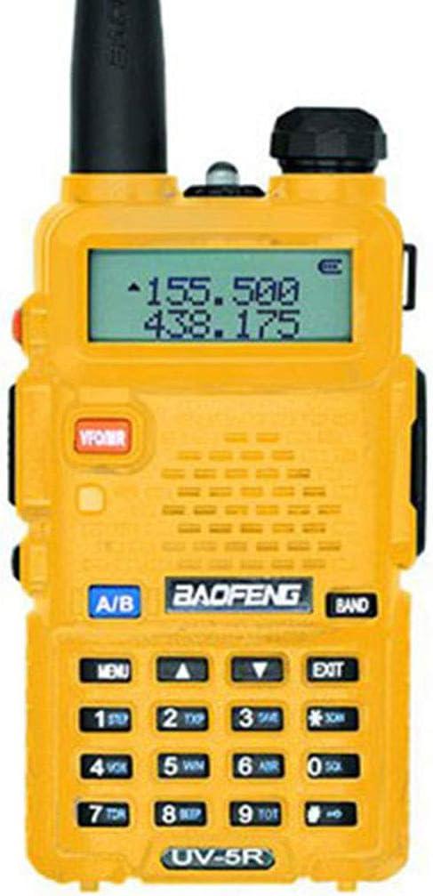 Brucelin Talkie Walkie Baofeng Uv-5r Talkie Walkie Professionnel Rechargeable Portable UHF VHF 5W /Émetteur-r/écepteur De Station De Radio CB