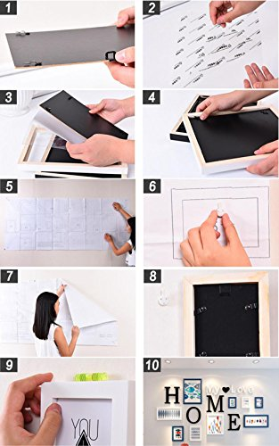 ZGP Home@Wall photo frame 9 pcs/sets Collage Photo Frame Set,Vintage Picture Frames,Family Picture Frame Wall,Wedding Photo Frames DIY Photo Frame Sets For Wall (Color : F) by ZGP (Image #2)