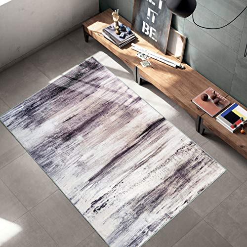 Woven Trends Contemporary and Modern Area Rug, 046 Vintage Solid Cloud, Extremely Durable and Stain Resistant, Stylish with Non-Skid Rubber Backing Gray, 3 x 5