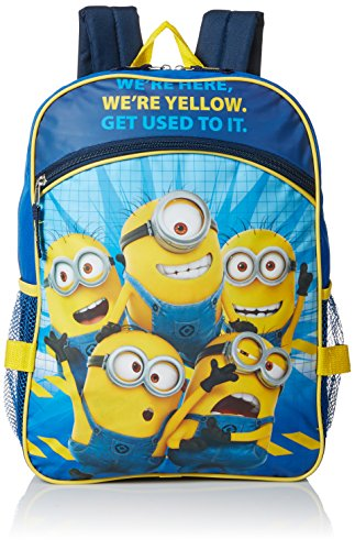 Despicable Me Boys' Universal Pictures Blue 16 Inch Backpack with Detachable Lunch Bag, Multi, One (Despicable Me Backpack)