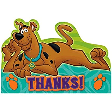 Amazon Com Postcard Thank You Cards Scooby Doo Collection Party