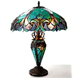 """Chloe Lighting CH18780VG18-DT3 """"LIAISON"""" Tiffany-Style Victorian 3 Light Double Lit Table Lamp 18-Inch Shade"""