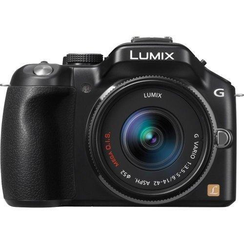 Panasonic DMC-G5KK 16 MP Mirrorless Digital Camera with 14-42mm Zoom Lens and 3-Inch LCD (Black) (OLD MODEL)