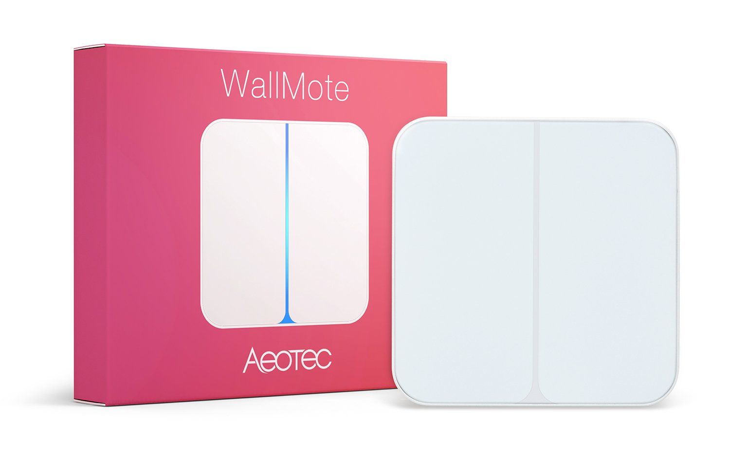 Aeotec WallMote, Z-Wave Plus wireless wall switch, 2 button, 8 scene remote control