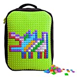 Upixel Classic Backpack – DIY Pixel Art – School Laptop Bag with Multi Pockets – Green