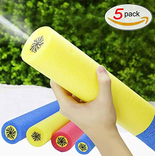 Hohayo Water Gun Foam Water Blaster Set Water Toys 5 Pack Water Squirters for Swimming Pool Summer Toys Beach Toys Outdoors Water Fighting Game Water Guns for - Pool Squirter