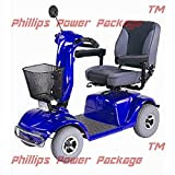 CTM - HS-740 - Full Size Heavy Duty Road Class Scooter - 4-Wheel - Blue - PHILLIPS POWER PACKAGE TM - TO $500 VALUE