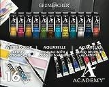 Grumbacher Academy Watercolor Paint, 7.5ml/0.25 oz. Tube, 12-Color Set (2012)