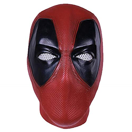 Abrante DP Custume Mask,Halloween Deadpool Cosplay Masks for Adult Red and Black ()