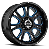 Vision 399 Fury 20x9 6x139.7/6x5.5'' +10mm Black/Milled/Blue Wheel Rim