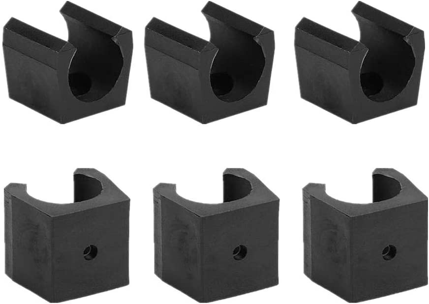 QYM 10 Pieces Billiards Snooker Cue Clips Cue Locating Clip Holder Small Cue Clips Storage Clamps fit for Pool Cue Racks Small Size