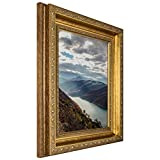 Craig Frames 6607 8 by 10-Inch Picture Frame, Smooth Ornate Finish, 2-Inch Wide, Brushed Antique Gold
