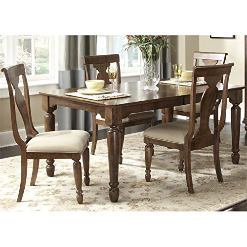 589 Dining Set - Liberty Furniture Traditions 5 Piece Dining Set in Cherry