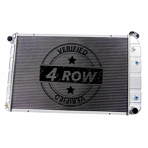 Primecooling 4 Row All Aluminum Radiator for Chevy /GMC Blazer ,C/K Series Pickup Truck More V8 Models 1973-91