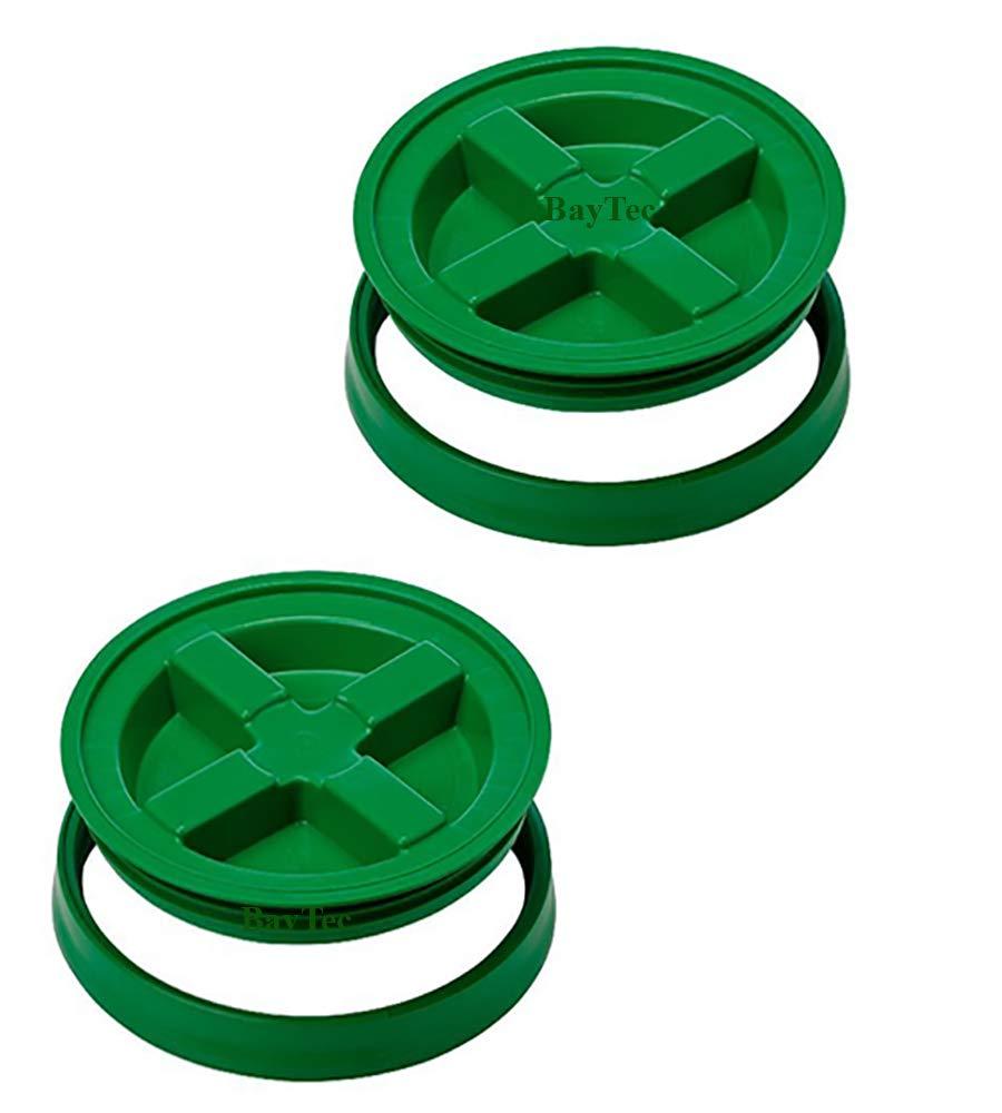 5 Gallon Green Gamma Seal Lid | 2 Pack