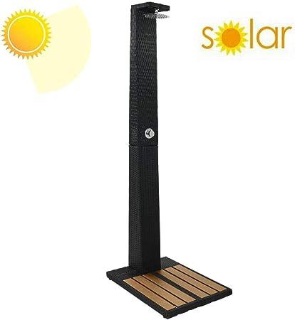 LBBGM Duchas Ducha Solar para jardín Ducha Solar con Boquilla de Ducha giratoria y Ducha de Agua Ajustable con Ajuste de frío y Calor para Exterior, jardín: Amazon.es: Hogar