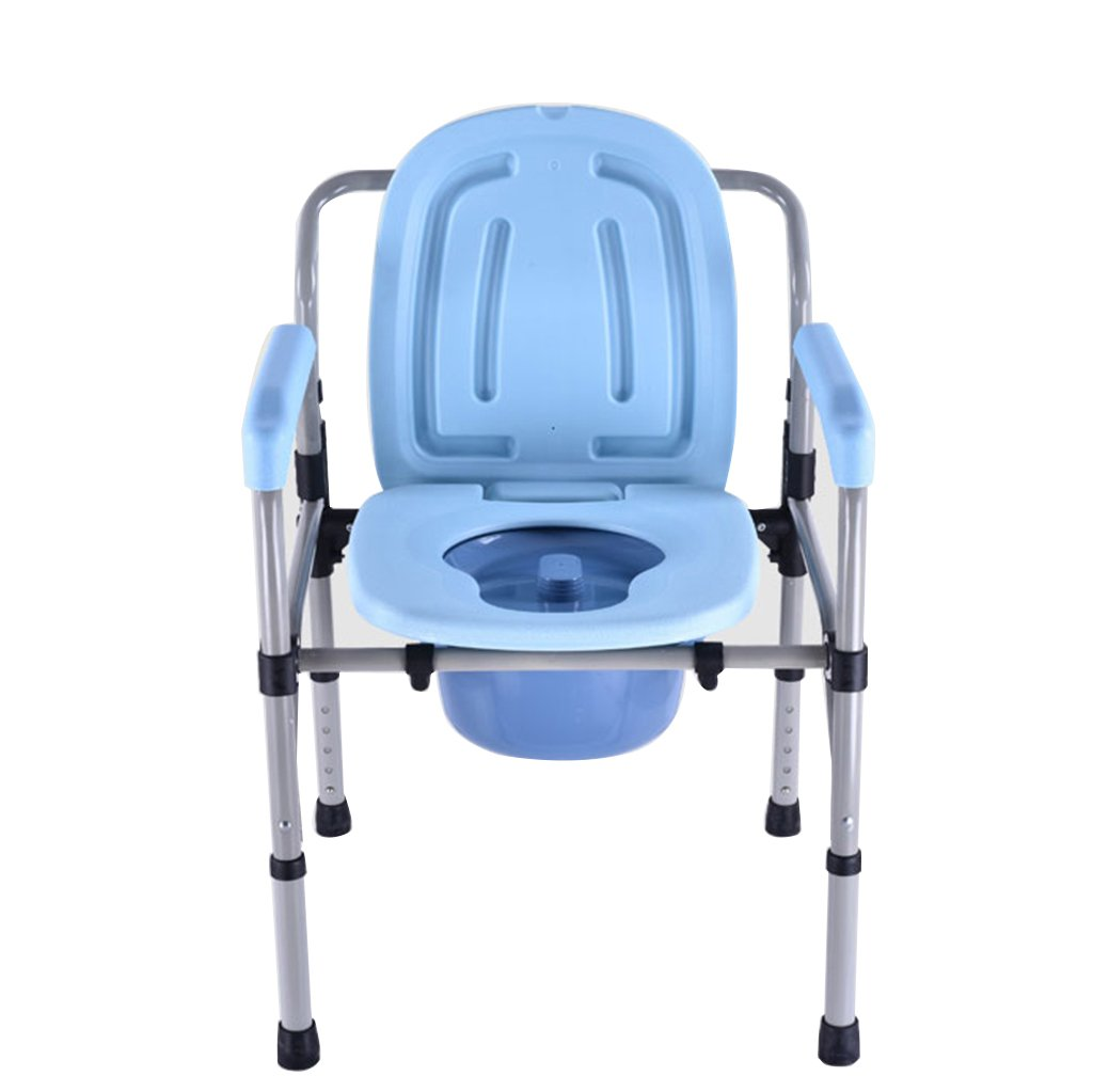 妊娠中の女性のためのトイレシートトイレ折りたたみトイレスツール厚いスチール高齢者トイレシートチェア B07C5XCR58