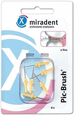 Miradent Pic Brush Ersatzbürsten, x-fein, gelb, 6 Stück