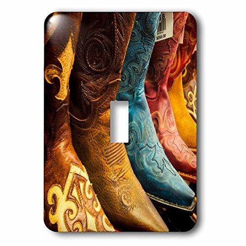 3dRose Danita Delimont - Scottsdale - Arizona, Old Scottsdale, Line up of new cowboy boots - Light Switch Covers - single toggle switch - Arizona Outlet Scottsdale