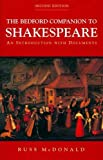 img - for Bedford Companion to Shakespeare: An Introduction with Documents book / textbook / text book