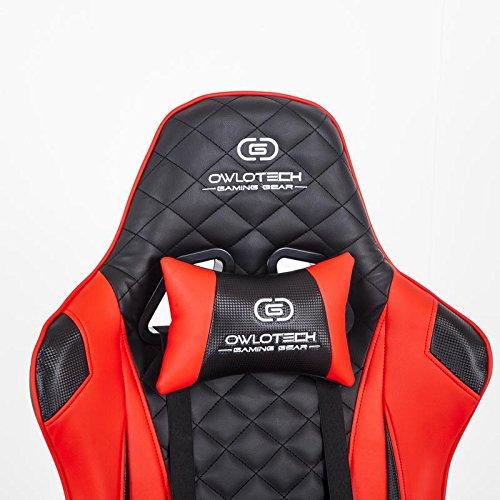 Owlotech Silla para Gaming, Poliuretano, Rojo, 33x70x86 cm: Amazon.es: Informática