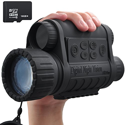 XIKEZAN 16GB Digital Infrared Night Vision Monocular with 1.5