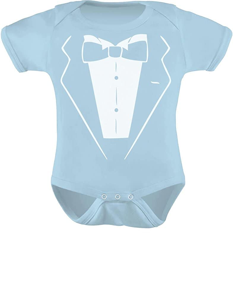a21ae8d96 Get your baby well dressed for any special event! babies wear tuxedos to!.  Premium quality, short sleeve baby onesie. 100% combed-cotton (preshrunk,)  ...