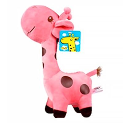 Animales de Peluche Jirafa Juguetes Plush Simulación Plush Jirafa Juguetes para Niños Bebés Juguetes para Bebés 1 Pieza Rosa: Juguetes y juegos